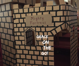 "photos of cardboard ""fortress"" castle"