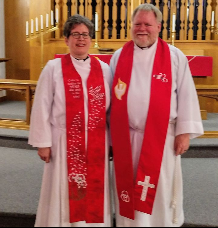 Pastor Tami on her Ordination day with her husband, Shawn.